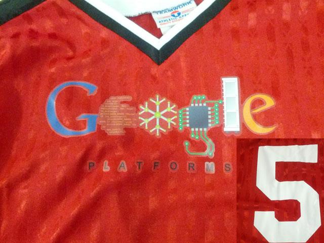Google-five year shirt