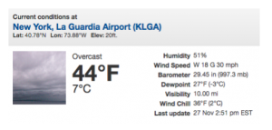 example of a data paragraph from the National Weather Service