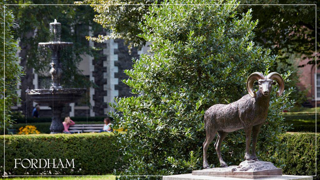 Fordham Ram statue