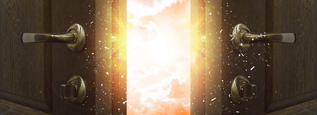 Open door, magic imagery